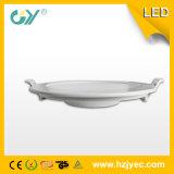 Neues 18W runde super dünne vertiefte eingehangene LED Panellight (CER; TUV)