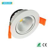 Der LED-weiße Aluminiumkarosserie Dimmable unten heller PFEILER vertieftes Lampen-5W kühles Weiß