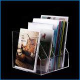 Support acrylique de brochure pour les brochures dispensantes et toute autre information pliée