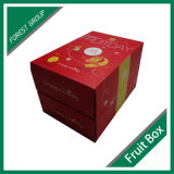 Double Open Customized Logo Printing Wholesale Paper Gift Box Emballage pour Fruits