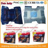Tecido descartável do bebê da película respirável elevada do PE da absorção