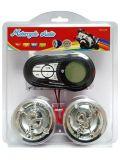 FM/Radio/MP3/MMC Waterproof o alarme em dois sentidos da motocicleta do indicador do LCD