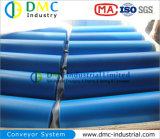 ролики транспортера зеваки транспортера HDPE системы транспортера диаметра 139mm голубые