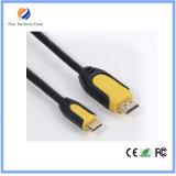 Alta velocità 1m 1.5m 1080P placcato oro 1.4V HDMI dell'OEM al cavo di HDMI