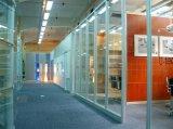 Paredes de partición enmarcadas aluminio de la oficina