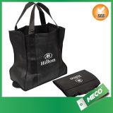 BSCI a apuré le sac non tissé promotionnel stratifié par pliage recyclable (MECO351)