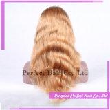 100% peluca llena del cordón del pelo humano