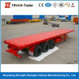 De 40 pi de récipient camion à plat de récipient de bas de page semi à vendre