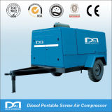 compresor de aire diesel de la rueda del Portable 2 de 247cfm 7bar para cavar