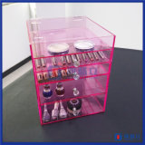 Organisator van de Make-up van 5 Rij van de Douane van China Manfuacturer de Roze Acryl