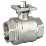 Steel di acciaio inossidabile 2PC Ball Valve con Mounting Pad