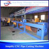 Máquina de estaca redonda de pequeno diâmetro da tubulação do CNC de Kasry