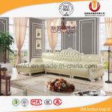 Europäisches Spitzenkorn-Leder-Sofa mit festes Holz-Rahmen/klassischem königlichem Sofa (UL-X2028A)