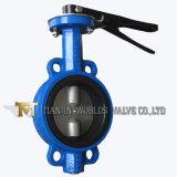 Управляемая рукояткой клапан-бабочка вафли с двойным половинным валом (D71X-10/16)