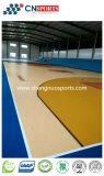 Cancha de básquet de la PU del silicón de la reducción del choque del estilo de madera de la textura