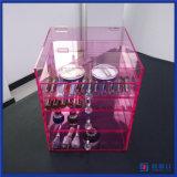 Reihe-Acrylverfassungs-Organisator des China-Manfuacturer kundenspezifische Rosa-5