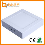 China de fábrica de montaje en superficie 12W 1080lm plaza ultra delgado panel LED