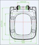 Siège des toilettes carré de la meilleure qualité d'uF de blanc avec l'enveloppe au-dessus du modèle
