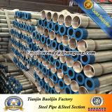 Tubo de acero galvanizado caliente del extremo roscado Bs1387