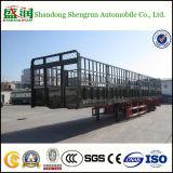 le bétail de cargaison de frontière de sécurité d'essieux de 60ton Chine 3 troque la remorque