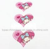 Стикер лазера стикера Tattoo яркия блеска стикера сердца Bling Bling кристаллический для корабля украшения (сердце TS-527)