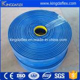 Mangueira resistente de alta temperatura colorida amarela azul do PVC Layflat