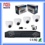 Дешевый CCTV Camera DVR Kit 4CH DVR Крытый Use