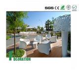 Decking hueco compuesto plástico de madera de la cubierta impermeable al aire libre de WPC para la decoración del jardín