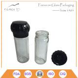 Ясные стеклянные точильщики соли, стан соли, точильщик специи, стан перца