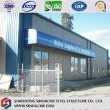 Portalrahmen-Stahlwerkstatt mit Büro