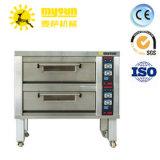 Bäckerei-Maschinen-Backen-Pizza-Brot elektrisch und Gas-doppelter Plattform-Ofen mit Dampf-und Fußboden-Stein