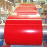 (0.14mm-1.0mm) Bobina de aço galvanizada Prepainted de aço PPGI do material de construção