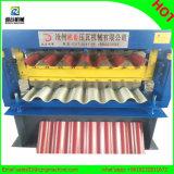Double paquet Ibr et roulis ondulé de panneaux formant la machine
