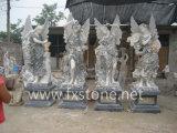 4개 절기 아름다움의 대리석 조각품