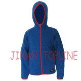 子供の屋外にのためのマイクロ羊毛の余暇のジャケット