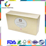 Коробка подарка коробки золотистого цвета бумажная упаковывая
