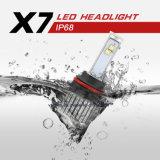 Brillo más alto X7 9004 60W 9600lm del CREE LED del coche Piezas Faro