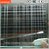 стекло конструкции безопасности 3-19mm, стекло провода, прокатывая стекло, картина закалило защитное стекло для стены гостиницы & домашних/пола/перегородки с SGCC/Ce&CCC&ISO