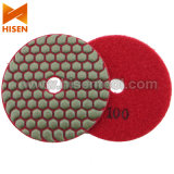 "4"" 100mm pads diamante pulido en seco flexible"