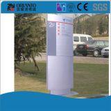 Voie en aluminium extérieure trouvant le signe de pylône