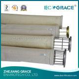 Sacchetto filtro resistente a temperatura elevata di Nomex del panno per l'acciaieria