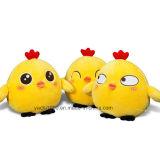 美しく黄色い詰められたおもちゃの鶏