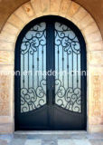 Copper Right-Hand Inswing Wrought Iron Entry Door Designs