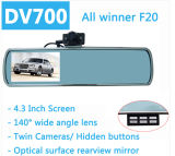 De dubbele Videorecorder Dashcam van de Camera van de Spiegel van de Auto DVR van de Lens Rearview