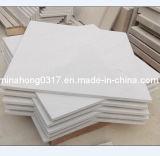 Mattonelle bianche dell'arenaria per il raggruppamento del rivestimento della parete della pietra per lastricati che fa fronte