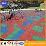 Azulejo de goma de la estera del suelo del deporte del patio de la venta al por mayor del precio de fábrica