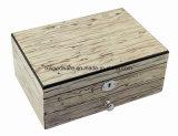 Contenitore di regalo di legno dei monili di Glossry della nuova impiallacciatura di legno