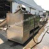 Pommes chips automatiques de la sortie 100kg de chauffage au gaz faisant frire la machine