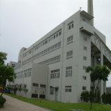 Costruzione del gruppo di lavoro della struttura d'acciaio con il tetto piano