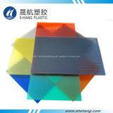 Várias cores de policarbonato plástico placa oca para construção de telhado